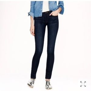 J. Crew Mid-Rise toothpick jean in carbon size 29